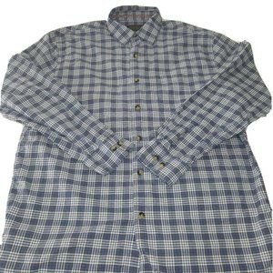Pendleton Sz M Blue Plaid Boulevard Casual Plaid